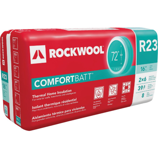Rockwool Comfortbatt R-23 16 In. x 47 In. Stone Wool Insulation (8-Pack)