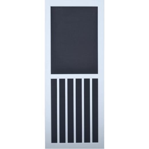 Snavely Kimberly Bay 36 In. W. x 80 In. H. x 1 In. Thick White Vinyl 5-Bar Screen Door