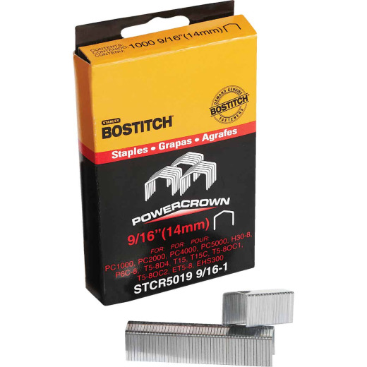 Bostitch Powercrown Hammer Tacker Staple, 9/16 In. (1000-Pack)