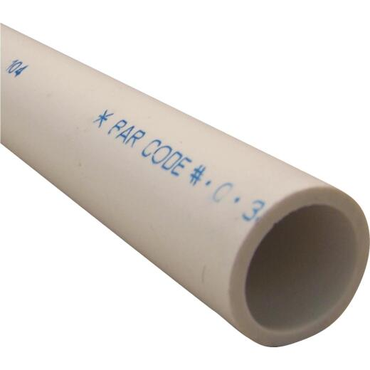 Charlotte Pipe 1-1/4 In. x 2 Ft. Schedule 40 Cold Water PVC Pressure Pipe
