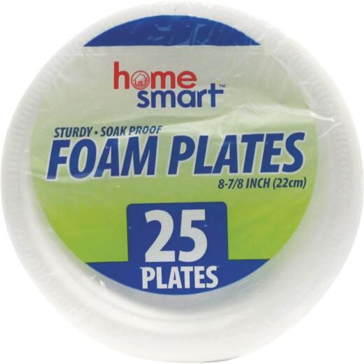 Home Smart 8-7/8 In. Foam Plate (25-Count)