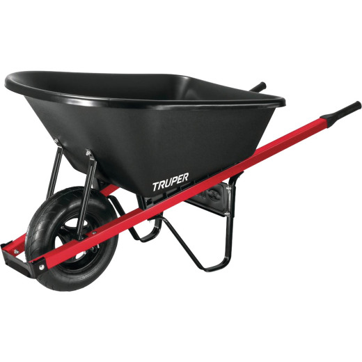 Truper 6 Cu. Ft. Poly Wheelbarrow