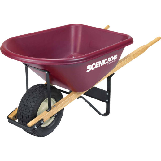 Scenic Road 6 Cu. Ft. Tradesmen Duty High-Density Poly Wheelbarrow